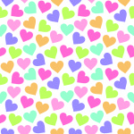 Seamless vintage heart background in pretty colors. Great for Baby, Valentine's Day, Mother's Day, wedding, scrapbook, surface textures. See my folio for more in this series and for JPEG version.